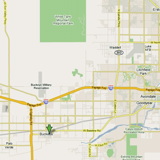Click here to see full map of Buckeye...