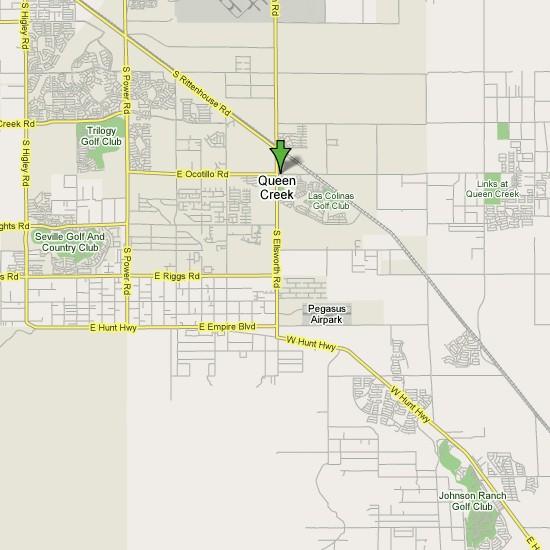 Queen Creek Az Map