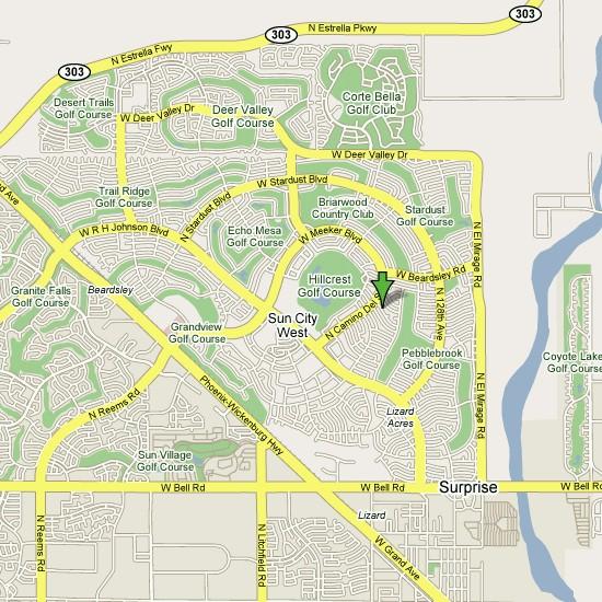 Sun City Arizona Map